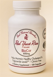 Picture of NEW BioCor: ORGANIC Red Yeast Rice 600 Mg